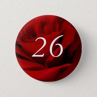 Bóton Redondo 5.08cm 26o Botão do Pin do favor de partido da rosa