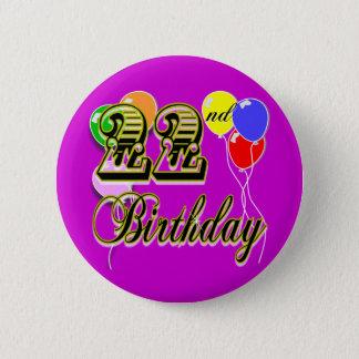 Bóton Redondo 5.08cm 2a mercadoria feliz do aniversário
