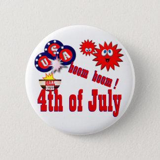 Bóton Redondo 5.08cm 4 de julho EUA