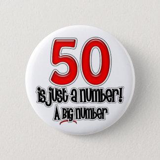 Bóton Redondo 5.08cm 50 é apenas um botão do número