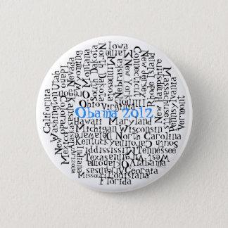 Bóton Redondo 5.08cm 50 estados 1 botão Obama 2012