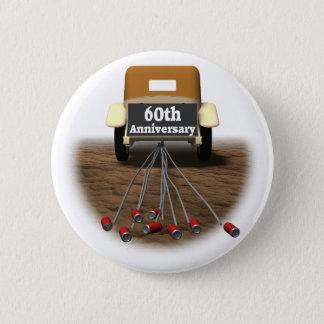 Bóton Redondo 5.08cm 60th Botão do aniversário de casamento