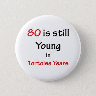 Bóton Redondo 5.08cm 80 anos da tartaruga