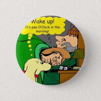 Bóton Redondo 5.08cm 881 horas do xixi nos desenhos animados da manhã