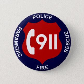 Bóton Redondo 5.08cm 911 polícias do botão ateiam fogo à ambulância