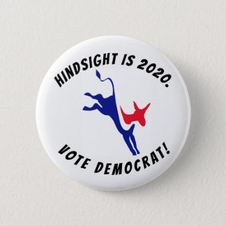 Bóton Redondo 5.08cm A aprendizagem é 2020, botão de Democrata do voto