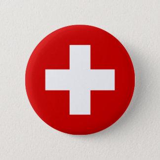 Bóton Redondo 5.08cm A bandeira da suiça