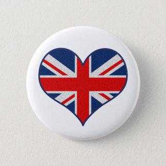 Bóton Redondo 5.08cm A bandeira de Union Jack para Grâ Bretanha,