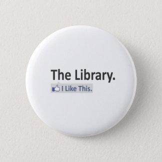 Bóton Redondo 5.08cm A biblioteca… eu gosto deste