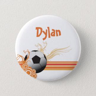 Bóton Redondo 5.08cm A bola de futebol ostenta o nome personalizado