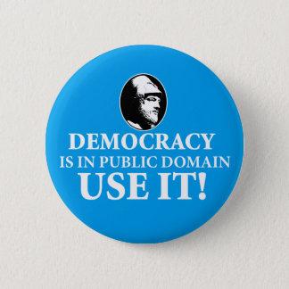 Bóton Redondo 5.08cm A democracia é paládio, usa-o