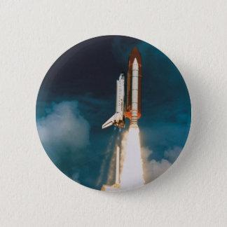 Bóton Redondo 5.08cm A descoberta do vaivém espacial sopra fora