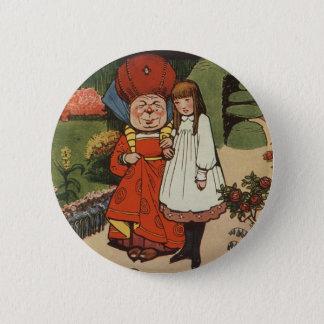 Bóton Redondo 5.08cm A duquesa que anda nos jardins com Alice