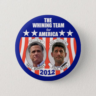 Bóton Redondo 5.08cm A equipe de lamentação para América: Romney & Ryan