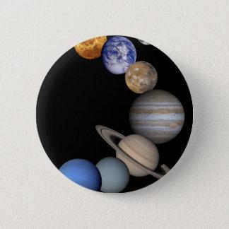 Bóton Redondo 5.08cm A escala do sistema solar nossos planetas