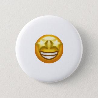 Bóton Redondo 5.08cm a estrela eyes o emoji