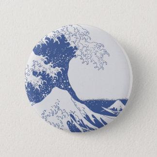 Bóton Redondo 5.08cm A grande onda fora de Kanagawa (神奈川沖浪裏)