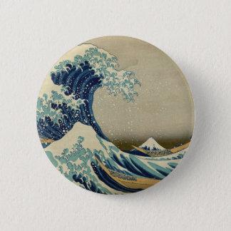 Bóton Redondo 5.08cm A grande onda Kanagawa