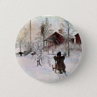 Bóton Redondo 5.08cm A jarda e o Lavagem-House, Carl Larsson