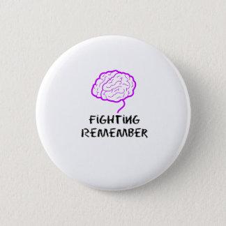 Bóton Redondo 5.08cm A luta roxa da consciência de Alzheimers recorda