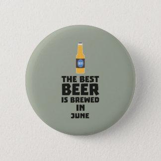 Bóton Redondo 5.08cm A melhor cerveja é em junho Z1u77 fabricado