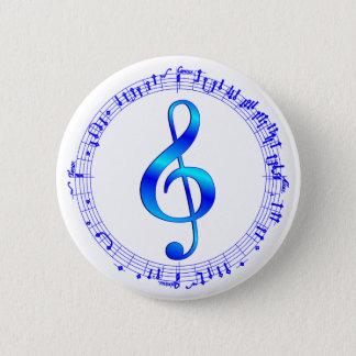 Bóton Redondo 5.08cm A música vai circularmente