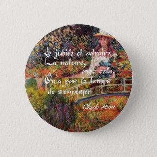 Bóton Redondo 5.08cm A natureza no art. de Monet