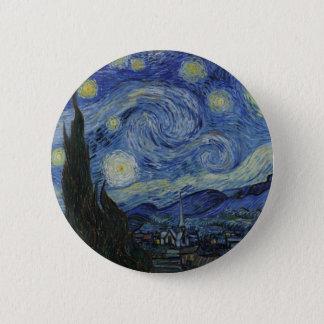 Bóton Redondo 5.08cm A noite estrelado Vincent van Gogh 1889