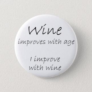 Bóton Redondo 5.08cm A piada engraçada das citações do vinho abotoa