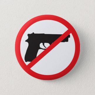 Bóton Redondo 5.08cm A proibição atira no pacifista da Anti-Arma