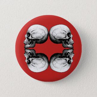 Bóton Redondo 5.08cm A proteção do crânio do Dia das Bruxas desossa o