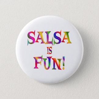 Bóton Redondo 5.08cm A salsa é DIVERTIMENTO