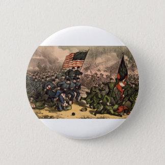 Bóton Redondo 5.08cm A segunda batalha da guerra civil de americano do