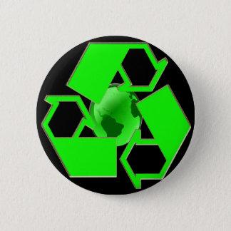 Bóton Redondo 5.08cm A terra 2 do reciclar - salvar a terra vão verde