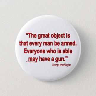 Bóton Redondo 5.08cm A tomada de George Washington nos braços do