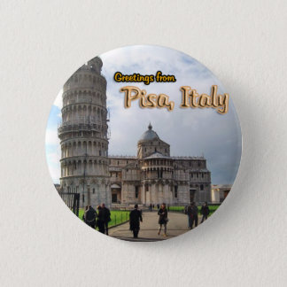 Bóton Redondo 5.08cm A torre inclinada de Pisa, Italia