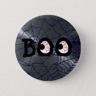 Bóton Redondo 5.08cm A vaia cinzenta e preta do Dia das Bruxas Eyeballs