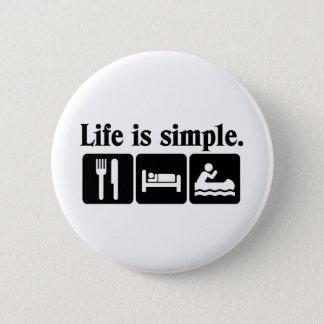 Bóton Redondo 5.08cm A vida é simples