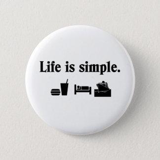 Bóton Redondo 5.08cm A vida é simples, cruzeiro