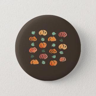 Bóton Redondo 5.08cm Abóboras com o botão redondo padrão das folhas