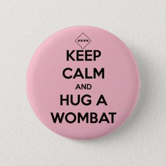 Bóton Redondo 5.08cm abrace um wombat - crachá