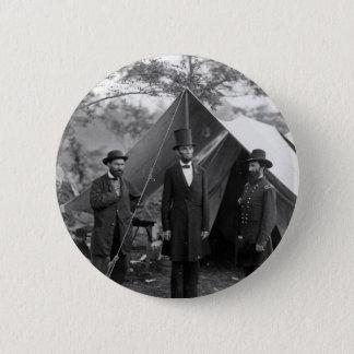 Bóton Redondo 5.08cm Abraham Lincoln Allan Pinkerton John A. McClernand