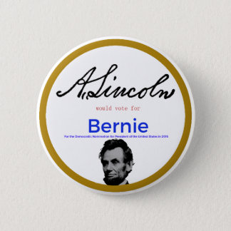 Bóton Redondo 5.08cm Abraham Lincoln para máquinas de lixar de Bernie