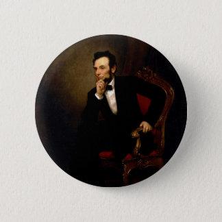 Bóton Redondo 5.08cm Abraham Lincoln por George Peter Alexander Healy