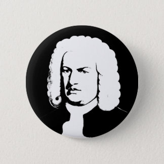 Bóton Redondo 5.08cm Abstractamente e Johann Sebastian Bach em preto