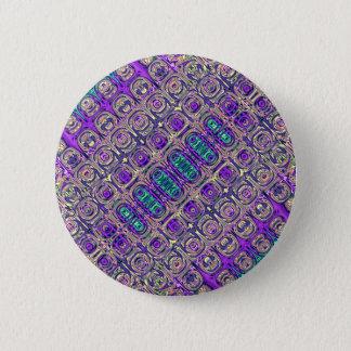 Bóton Redondo 5.08cm Abstrato colorido da miçanga de vidro