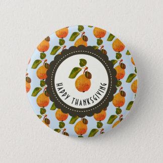 Bóton Redondo 5.08cm Acção de graças da fruta das peras da queda