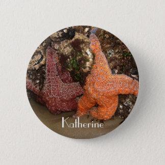 Bóton Redondo 5.08cm Adicione o nome: Foto colorida 3 da estrela do