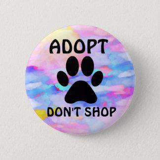 Bóton Redondo 5.08cm Adopt não faz padrão de loja, botão redondo da