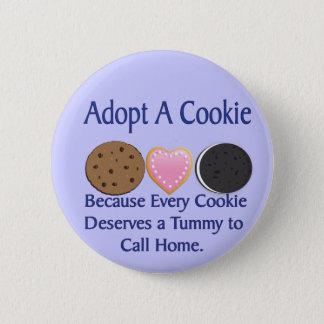 Bóton Redondo 5.08cm Adote um botão do biscoito